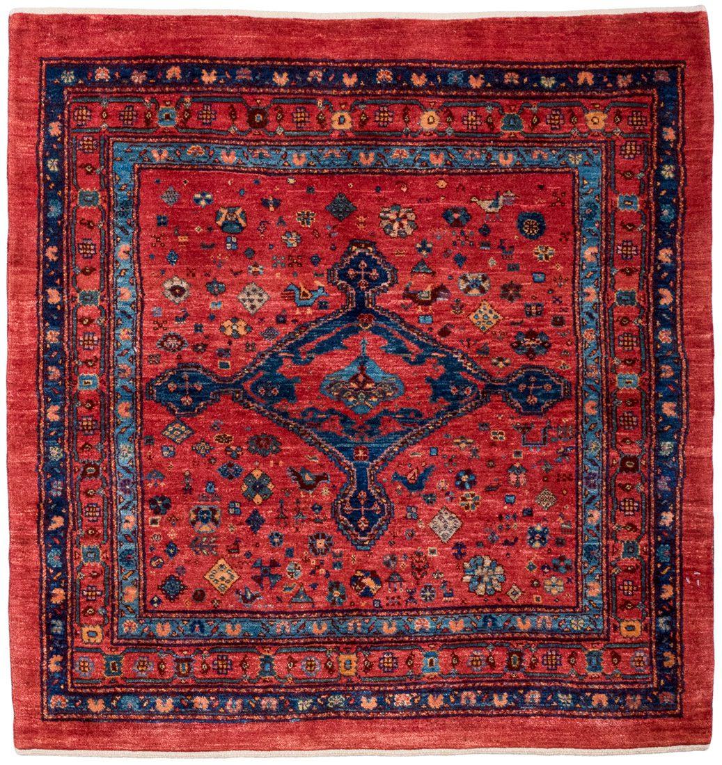 persian qashqai wool square rug