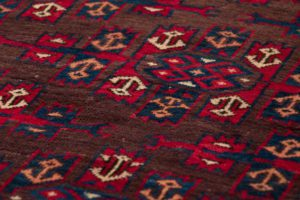 antique yomut wool rug
