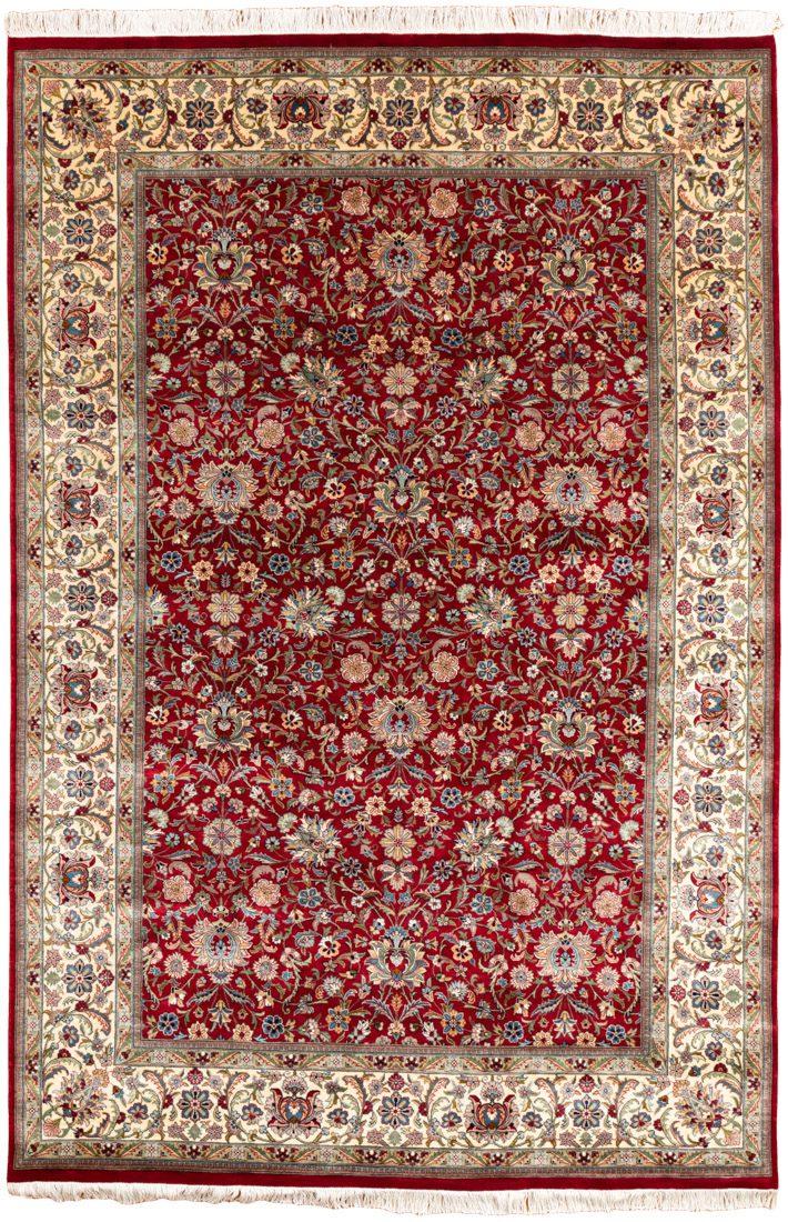 very fine khotan wool rug