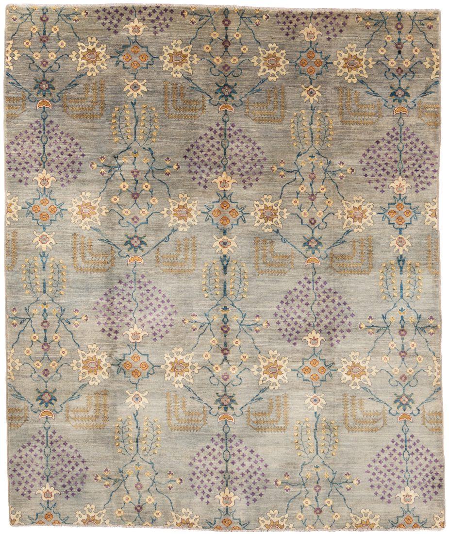 contemporary garden handwoven rug