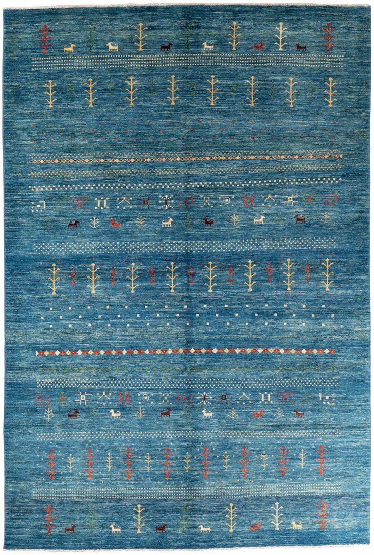 gabbeh blue rug