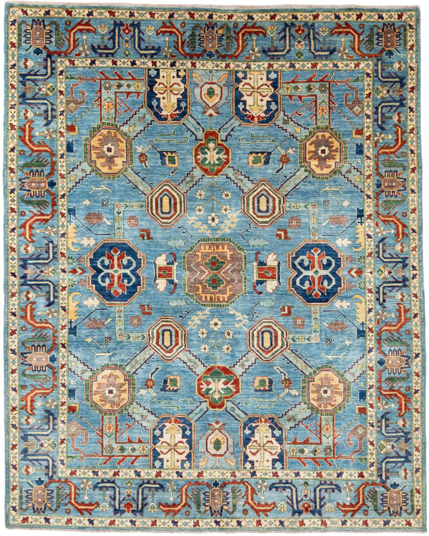 bakshaish blue tribal rug