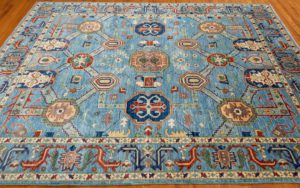 bakshaish blue tribal rug
