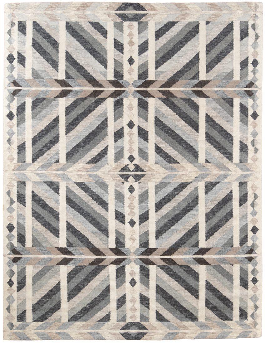 contemporary wool viscose rug