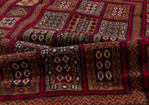 vintage afghan wool rug